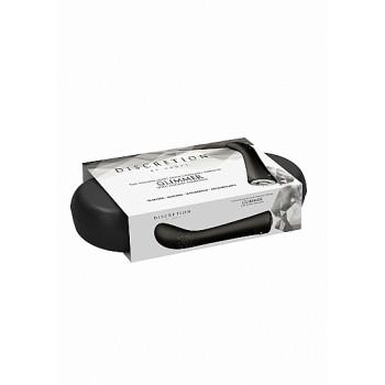 Vibrador Ponto-G Glimmer c/ Caixa Recarregável Discretion Preto