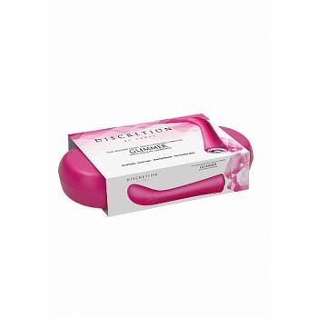 Vibrador Ponto-G Glimmer c/ Caixa Recarregável Discretion Rosa