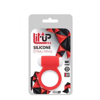 Anel com Vibração para Pénis 3 Lit-Up Vermelho