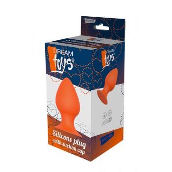 Plug Anal c/ Base Sucção Dream Toys 13.4cm Laranja