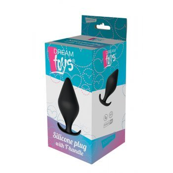 Plug Anal T-Handle Silicone Dream Toys 14.6cm Preto