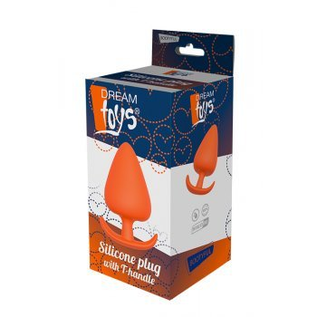 Plug Anal T-Handle Silicone Dream Toys 13.4cm Laranja