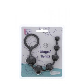 Cordão Anal Contas Ringed Beads Dream Toys Preto