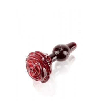 Plug Anal Vidro Icicles No76 6cm Vermelho