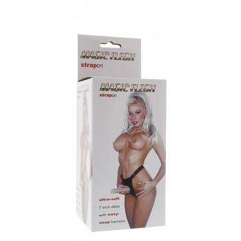 Strap On com Dildo Realista 17.8cm Magic Flesh Pele