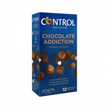 Caixa 12 Preservativos Chocolate Addiction Control