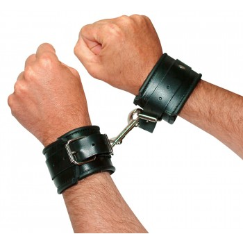 Leather Handcuffs padded