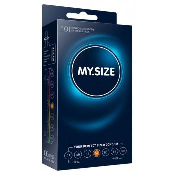 Caixa 10 Preservativos MY.SIZE 57mm