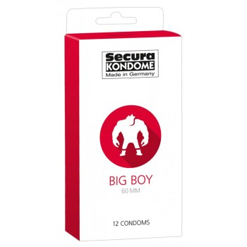 Caixa 12 Preservativos Secura Big Boy 60mm
