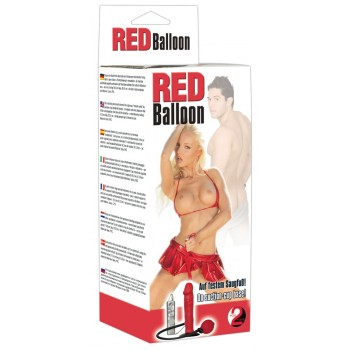 Red Balloon inflatable Dildo