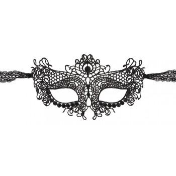 Máscara Simétrica Bordada Preto