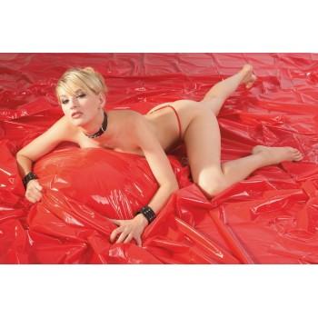 Lençol em latex vermelho 200x230cm